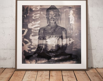 Buddha IX by Sven Pfrommer - Artwork is ready to hang with a solid wooden frame