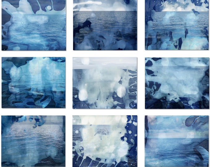 NINE OCEANS - by Sven Pfrommer - Multi Panel Artwork is ready to hang