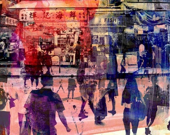 HONG KONG Convergence IX by Sven Pfrommer - Artwork is ready to hang