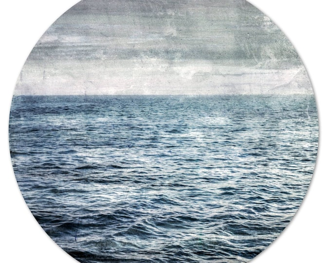 LA MER – Circular VI (Ø 100 cm) by Sven Pfrommer - Round artwork is ready to hang