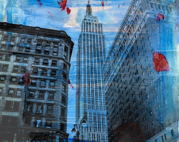 NEWYORK COLOR II by Sven Pfrommer - 100x100cm Artwork is ready to hang