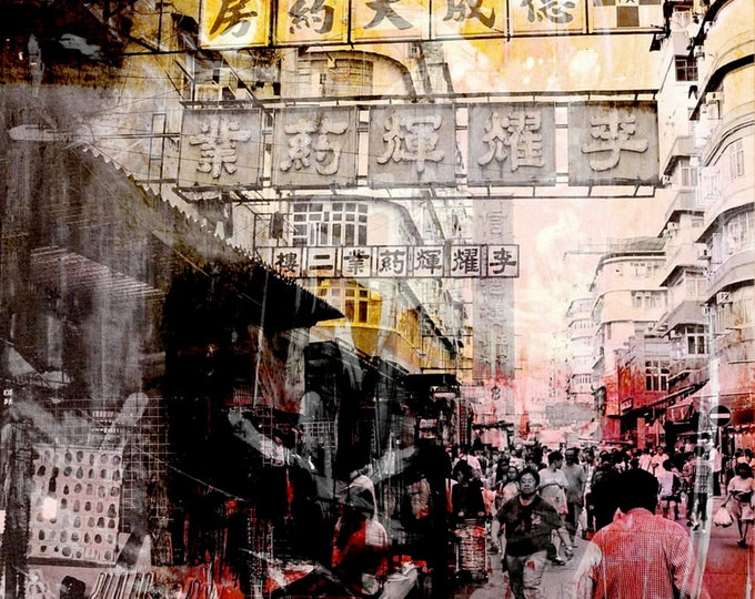 HONG KONG Streets X by Sven Pfrommer - Framed artwork is ready to hang