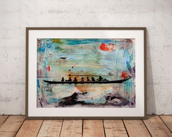 Waterworld VI by Sven Pfrommer - Artwork is ready to hang with a solid wooden frame
