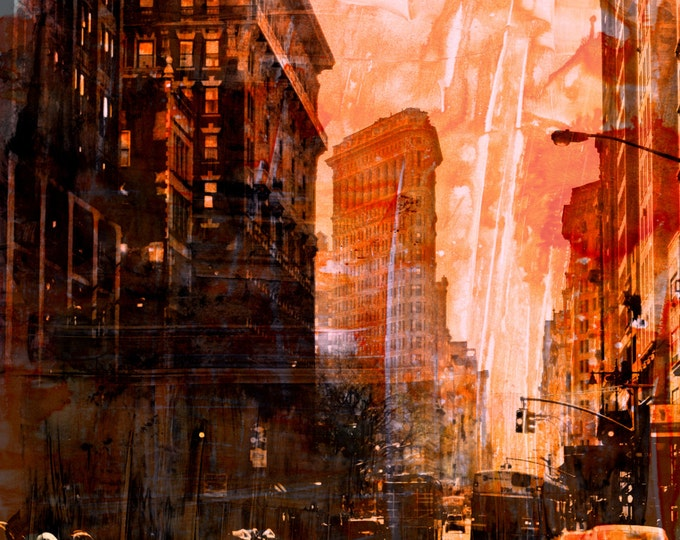 NEWYORK COLOR III by Sven Pfrommer - 100x80cm Artwork is ready to hang