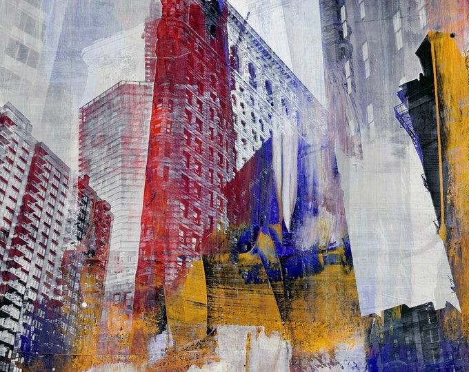 NY DOWNTOWN III by Sven Pfrommer - 100x100cm Artwork is ready to hang