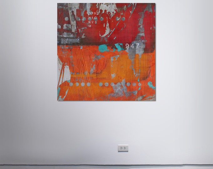 HUMAN CROWD IX - by Sven Pfrommer - Artwork on Canvas is ready to hang
