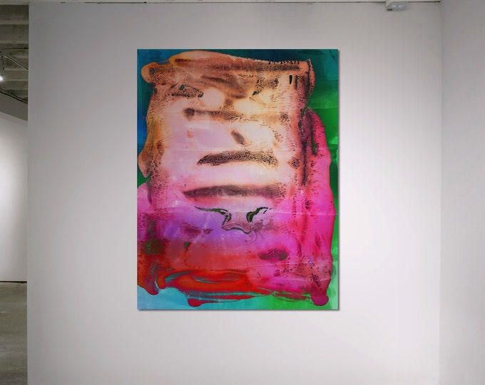 Abstract Scanography XXIV - by Sven Pfrommer - Artwork is framed and ready to hang