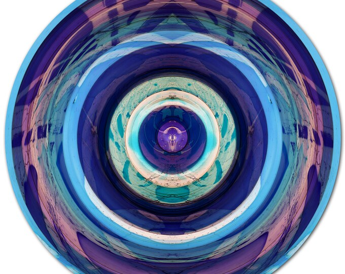 COLOR SPHERE IV (Ø 100 cm) by Sven Pfrommer - Round artwork is ready to hang