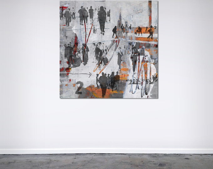 HUMAN CROWD XI - by Sven Pfrommer - Artwork on Canvas is ready to hang