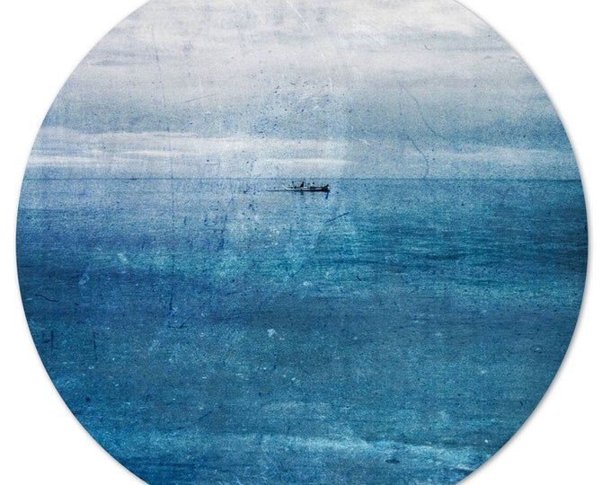 LA MER – Circular I (Ø 100 cm) by Sven Pfrommer - Round artwork is ready to hang