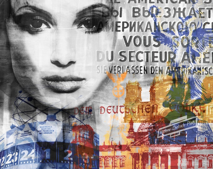 BERLIN ART II by Sven Pfrommer - Artwork on canvas is ready to hang