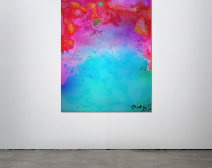 Abstract Scanography VII - by Sven Pfrommer - Artwork is framed and ready to hang
