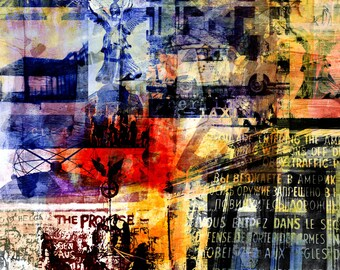 BERLIN EDGE II by Sven Pfrommer - Artwork on canvas is ready to hang