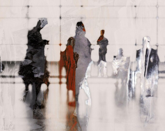 AIRPORT XXIII - Mixed Media Art by Sven Pfrommer - Artwork is ready to hang