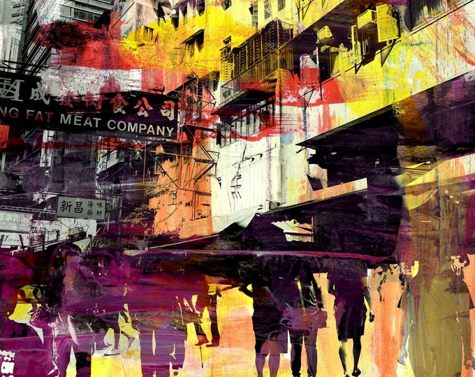 Hong Kong Convergence Ill by Sven Pfrommer - Framed artwork is ready to hang