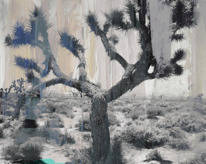 JOSHUA TREE II by Sven Pfrommer - 100x80cm Artwork is ready to hang.