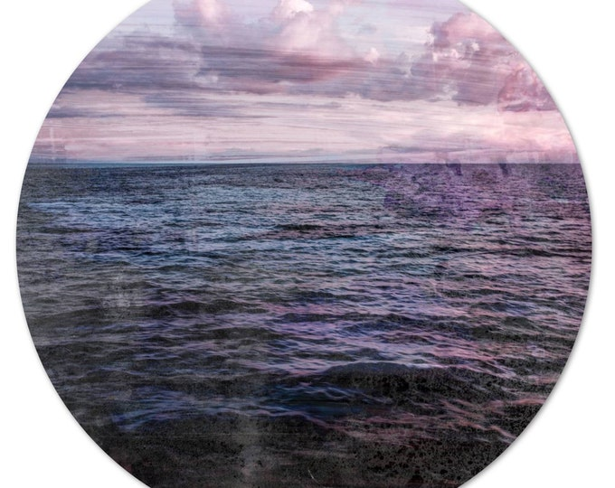 LA MER – Circular IX (Ø 100 cm) by Sven Pfrommer - Round artwork is ready to hang