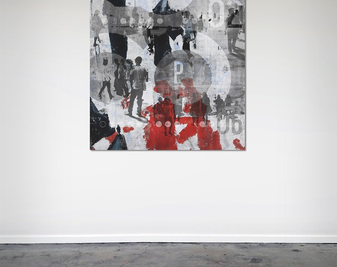HUMAN CROWD VIII - by Sven Pfrommer - Artwork on Canvas is ready to hang