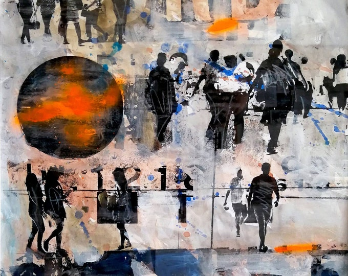URBN City Mixed Media I - by Sven Pfrommer
