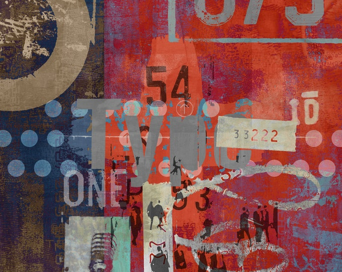 TYPE ART II by Sven Pfrommer - 100x100cm Artwork is ready to hang.