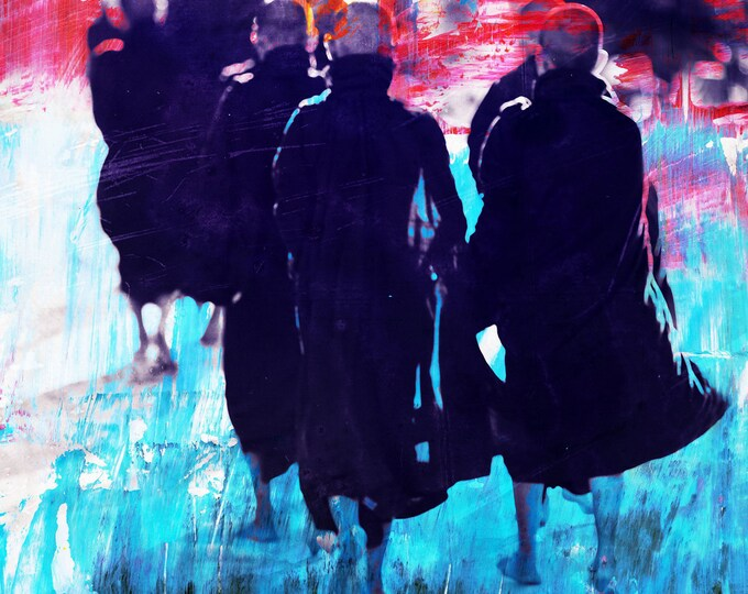 MONKS LIII - Artbox by Sven Pfrommer - Artwork is framed and ready to hang