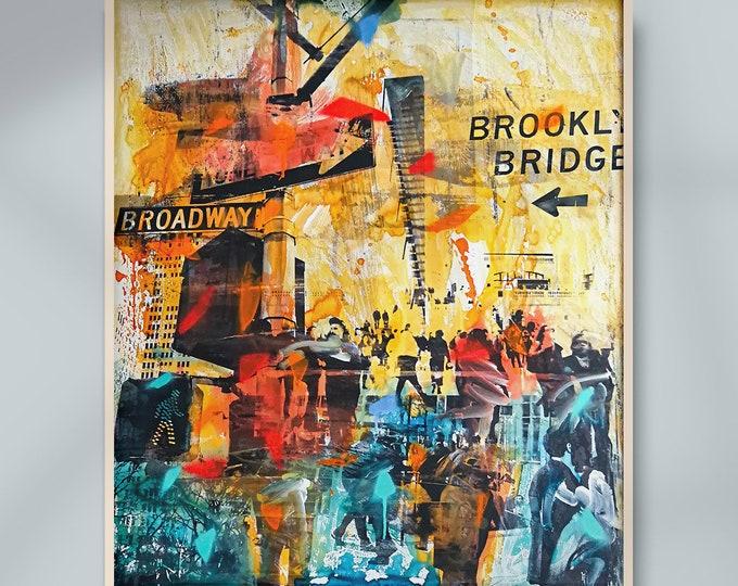 NY POP UP - Mixed media art by Sven Pfrommer