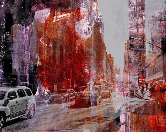 NEWYORK COLOR XXXII by Sven Pfrommer - 100x80cm Artwork is ready to hang