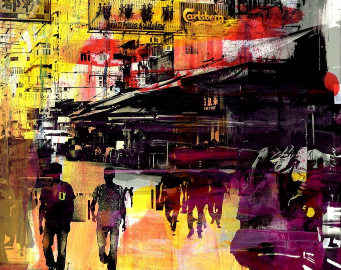 HONG KONG Convergence IV by Sven Pfrommer - Artwork is ready to hang