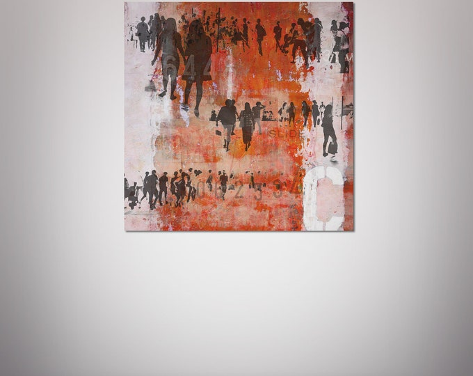 HUMAN CROWD I - by Sven Pfrommer - Artwork on Canvas is ready to hang