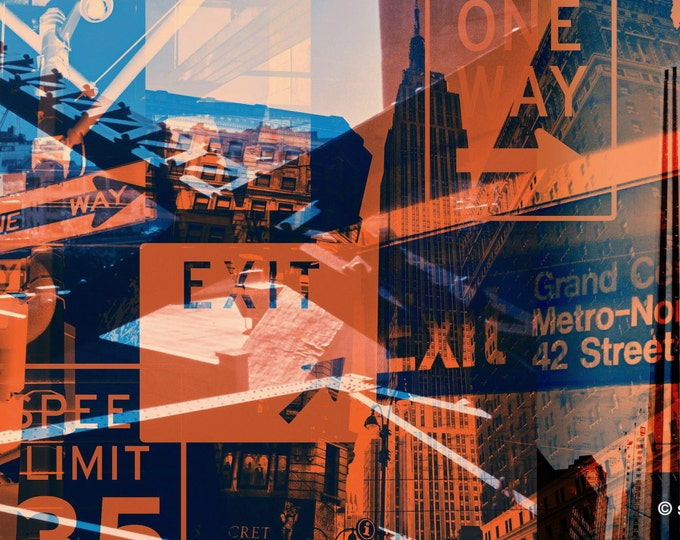 NY URBAN III by Sven Pfrommer - 140x70cm Artwork is ready to hang