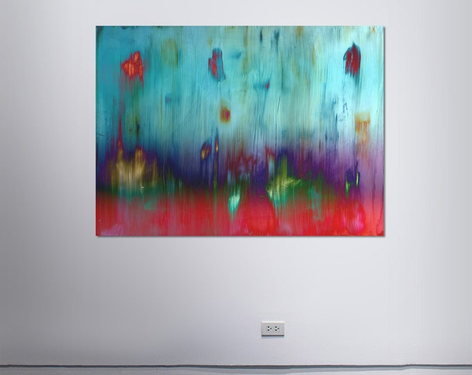 Abstract Scanography XX - by Sven Pfrommer - Artwork is framed and ready to hang