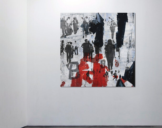 HUMAN CROWD X - by Sven Pfrommer - Artwork on Canvas is ready to hang