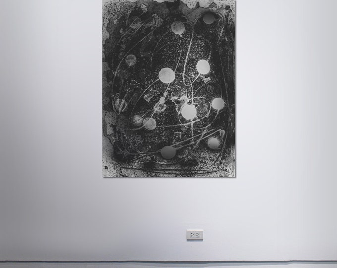 Abstract Scanography XV - by Sven Pfrommer - Artwork is framed and ready to hang
