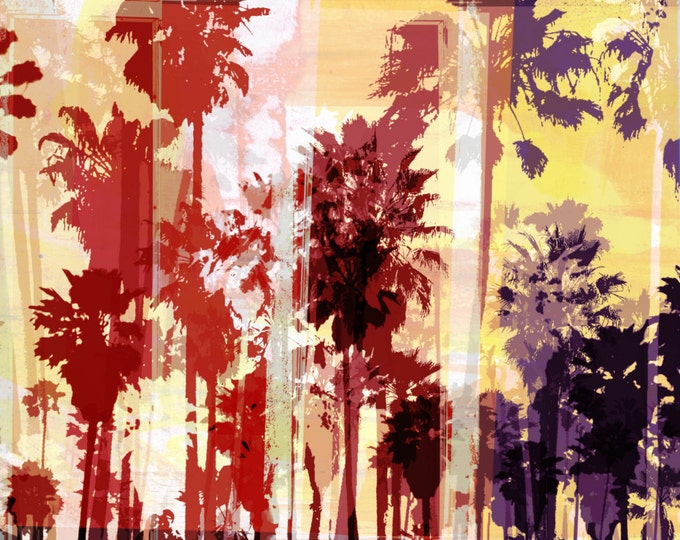 VENICE BEACH III by Sven Pfrommer - 140x70cm Artwork is ready to hang.