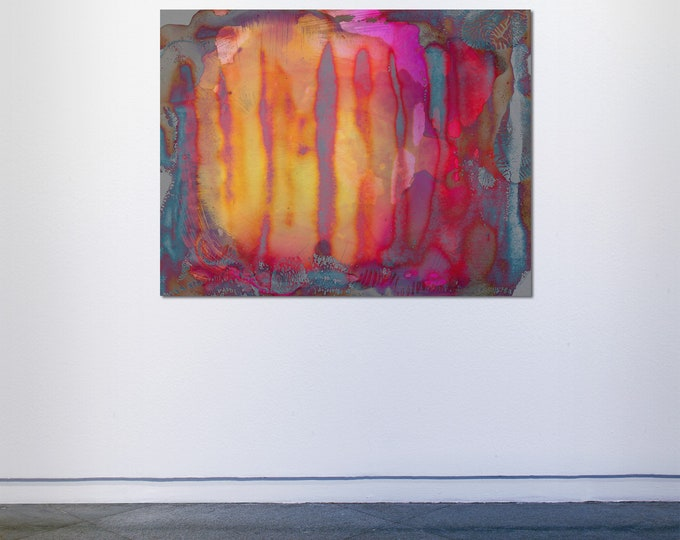 Abstract Scanography XXVII - by Sven Pfrommer - Artwork is framed and ready to hang