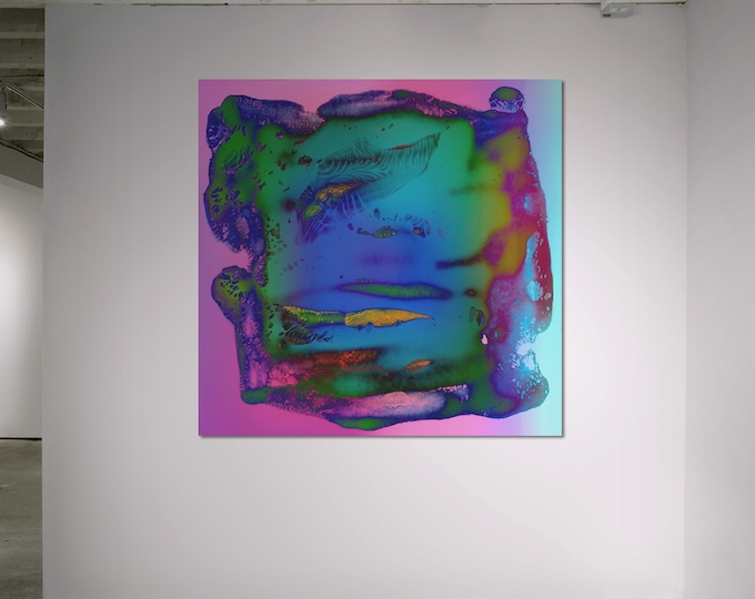 Abstract Scanography IX - by Sven Pfrommer - Artwork is framed and ready to hang