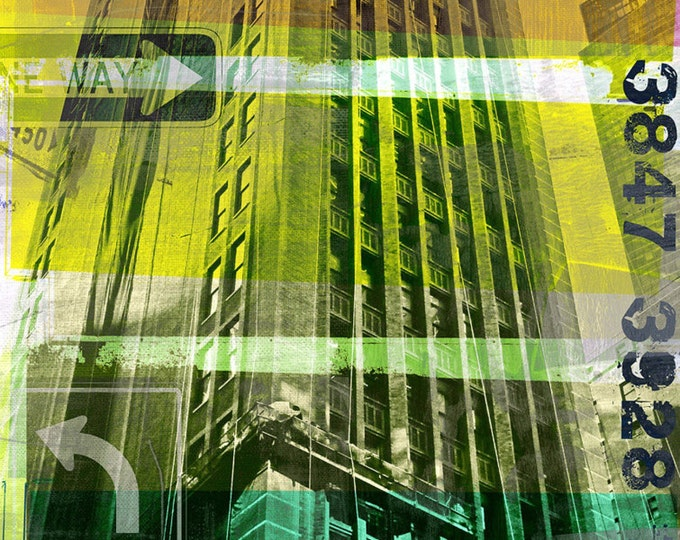NEWYORK SKYLINER V by Sven Pfrommer - 140x70cm Artwork is ready to hang.