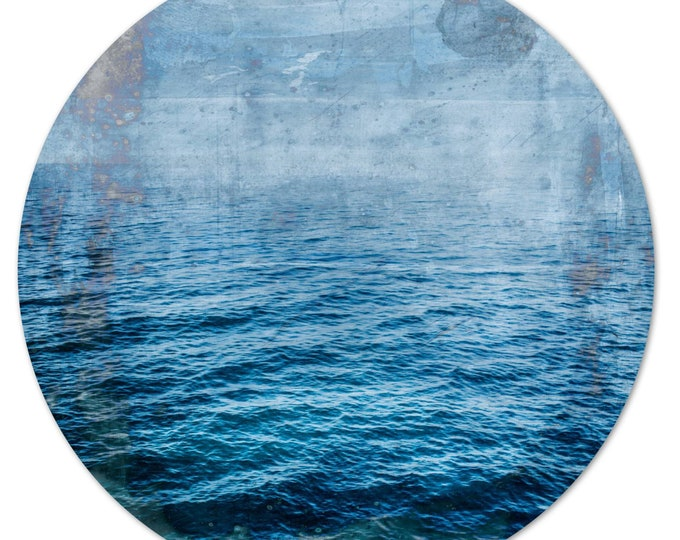LA MER – Circular V (Ø 100 cm) by Sven Pfrommer - Round artwork is ready to hang