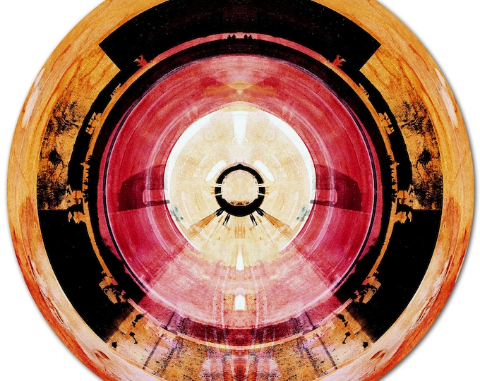 HUMAN SPHERE XIX (Ø 100 cm) by Sven Pfrommer - Round artwork is ready to hang