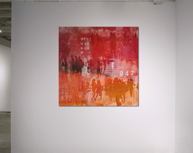 HUMAN CROWD III - by Sven Pfrommer - Artwork on Canvas is ready to hang