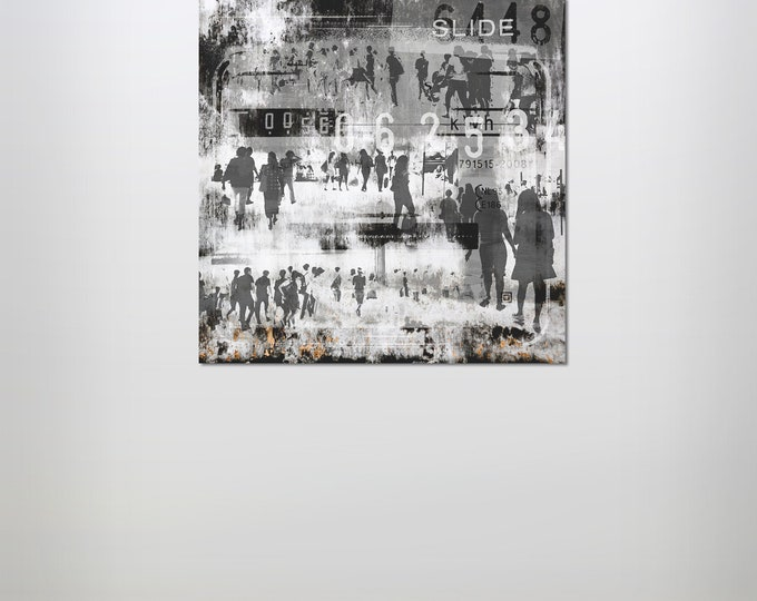 HUMAN CROWD II - by Sven Pfrommer - Artwork on Canvas is ready to hang