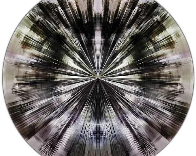 DUBAI FRAGMENTS VII (Ø 100 cm) by Sven Pfrommer - Round artwork is ready to hang