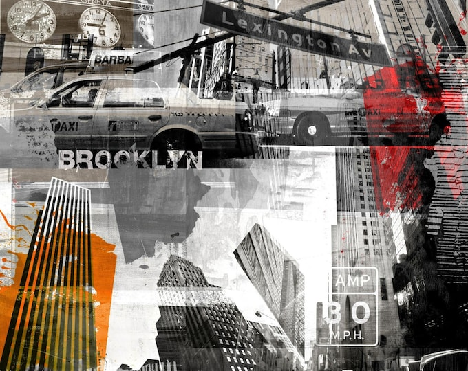 NY URBAN VIII by Sven Pfrommer - 100x100cm Artwork is ready to hang