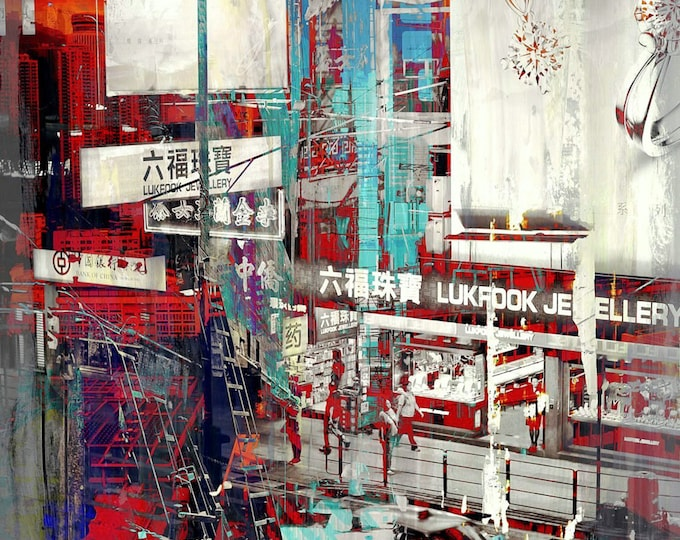 HONG KONG Downtown VIII by Sven Pfrommer - Artwork is ready to hang