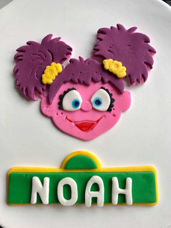 Abby Cadabby Cake Topper Abby Cadabby Face And Custom Sesame Street Sign