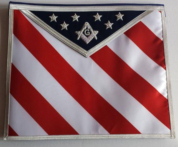 Master Mason MASONIC REGALIA MM WHITE Apron FREE SHIPPING USA