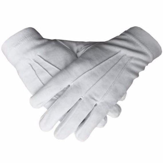 Masonic Freemasons Mark Degree White 100/% Cotton lodge Gloves