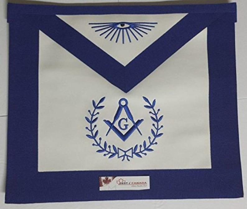 Masonic Blue Lodge Master Mason Apron AL