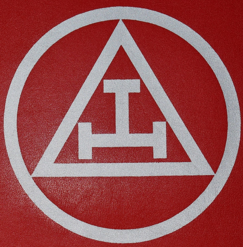 Masonic Red Royal Arch Apron Printed Logo Case