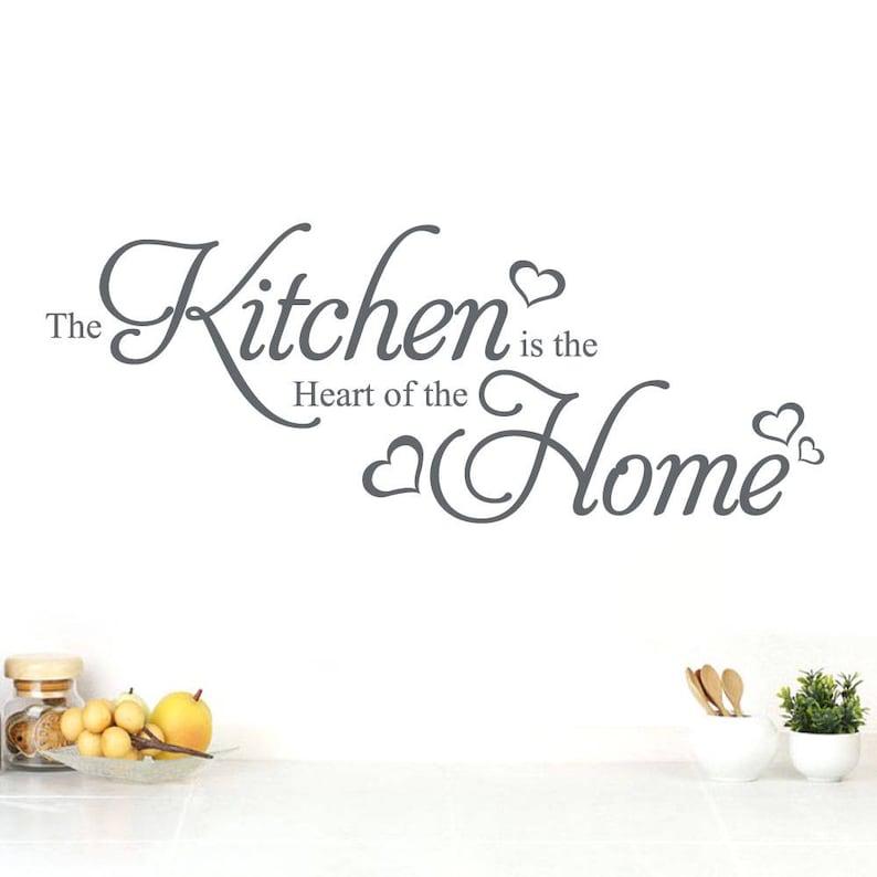Wd101162 Kuchnia Jest Sercem Domu Cytatem ścianie Kuchni Naklejki ścienne Art